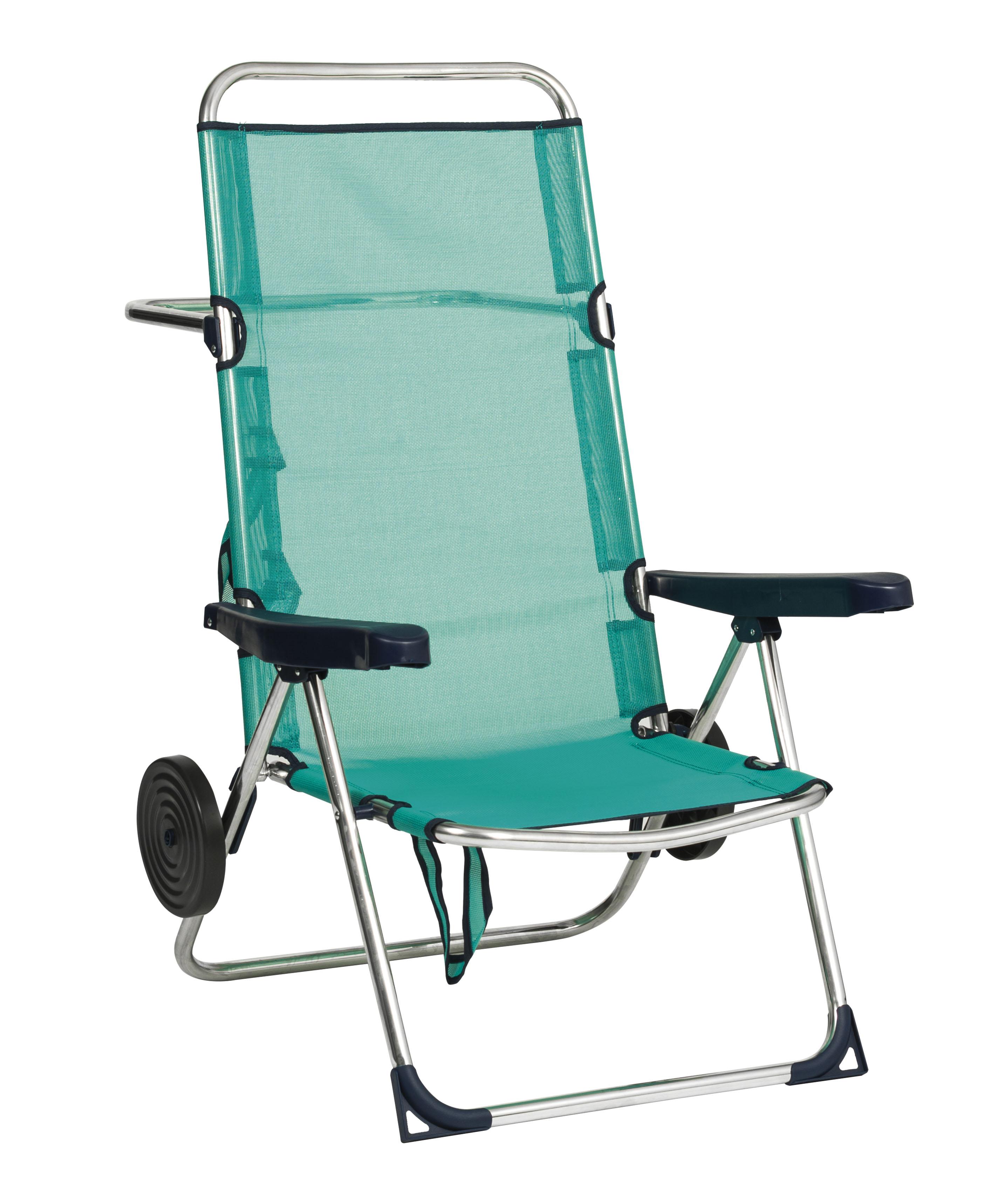 29103805098 High beach chair aluminium Textilene with wheels 0030 - Alco